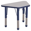 "18x30"" Trap Table Grey/Navy-Chunky"