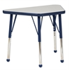 "18""x30"" Trapezoid T-Mold Activity Table, Grey/Navy/Toddler Ball"