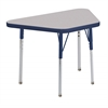 "18""x30"" Trapezoid T-Mold Activity Table, Grey/Navy/Toddler Swivel"
