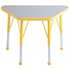 "ECR4Kids 18x30"" Trap Table Grey/Yellow-Standard Ball"