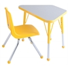 "ECR4Kids 18x30"" Trap Table Grey/Yellow-Toddler Ball"