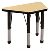 "18""x30"" Trapezoid T-Mold Activity Table, Maple/Black/Chunky"