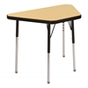 "18""x30"" Trapezoid T-Mold Activity Table, Maple/Black/Standard Swivel"