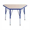 "ECR4Kids 18x30"" Trap Table Maple/Blue -Standard Swivel"