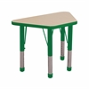 "18""x30"" Trapezoid T-Mold Activity Table, Maple/Green/Chunky"