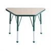 "ECR4Kids 18x30"" Trap Table Maple/Green-Toddler Ball"