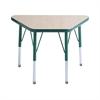 "ECR4Kids 18x30"" Trap Table Maple/Green-Toddler Swivel"