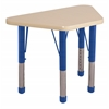 "18""x30"" Trapezoid T-Mold Activity Table, Maple/Maple/Blue/Chunky"