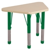 "18""x30"" Trapezoid T-Mold Activity Table, Maple/Maple/Green/Chunky"
