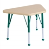 "18""x30"" Trapezoid T-Mold Activity Table, Maple/Maple/Green/Toddler Ball"