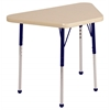 "18""x30"" Trapezoid T-Mold Activity Table, Maple/Maple/Navy/Standard Ball"