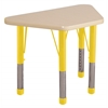 "18""x30"" Trapezoid T-Mold Activity Table, Maple/Maple/Yellow/Chunky"