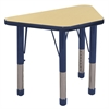 "18""x30"" Trapezoid T-Mold Activity Table, Maple/Navy/Chunky"