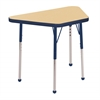 "18""x30"" Trapezoid T-Mold Activity Table, Maple/Navy/Toddler Ball"