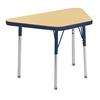 "18""x30"" Trapezoid T-Mold Activity Table, Maple/Navy/Toddler Swivel"