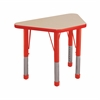 "ECR4Kids 18x30"" Trap Table Maple/Red -Chunky"
