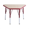 "ECR4Kids 18x30"" Trap Table Maple/Red -Standard Swivel"