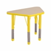 "18""x30"" Trapezoid T-Mold Activity Table, Maple/Yellow/Chunky"