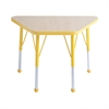 "18""x30"" Trapezoid T-Mold Activity Table, Maple/Yellow/Toddler Ball"