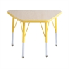 "ECR4Kids 18x30"" Trap Table Maple/Yellow-Toddler Swivel"