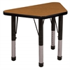 "ECR4Kids 18x30"" Trap Table Oak/Black-Chunky"