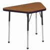 "18""x30"" Trapezoid T-Mold Activity Table, Oak/Navy/Standard Ball"