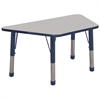 "ECR4Kids 30x60"" Trap Table Grey/Navy-Chunky"