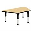 "ECR4Kids 30x60"" Trap Table Maple/Black-Chunky"