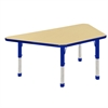 "30""x60"" Trapezoid T-Mold Activity Table, Maple/Blue/Chunky"