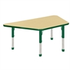 "30x60"" Trap Table Maple/Green-Chunky"