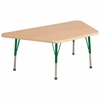 "ECR4Kids 30""x60"" Trap Maple/Maple/Green Toddler BG"