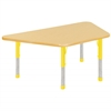 "30""x60"" Trapezoid T-Mold Activity Table, Maple/Maple/Yellow/Chunky"