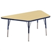 "ECR4Kids 30x60"" Trap Table Maple/Navy -Standard Swivel"