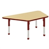 "ECR4Kids 30x60"" Trap Table Maple/Red -Chunky"