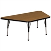 "ECR4Kids 30x60"" Trap Table Oak/Black-Toddler Ball"