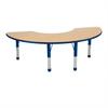 "36""x72"" Half Moon T-Mold Activity Table, Maple/Blue/Chunky"