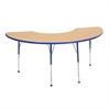 "36""x72"" Half Moon T-Mold Activity Table, Maple/Blue/Standard Ball"