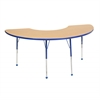 "36""x72"" Half Moon T-Mold Activity Table, Maple/Blue/Toddler Ball"