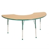 "36""x72"" Half Moon T-Mold Activity Table, Maple/Green/Standard Ball"