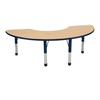 "36""x72"" Half Moon T-Mold Activity Table, Maple/Navy/Chunky"