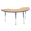 "36""x72"" Half Moon T-Mold Activity Table, Maple/Navy/Toddler Ball"
