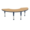 "36""x72"" Half Moon T-Mold Activity Table, Oak/Navy/Chunky"