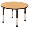 "30"" Round T-Mold Activity Table, Maple/Black/Chunky"