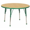 "30"" Round T-Mold Activity Table, Maple/Green/Toddler Ball"