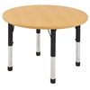 "30"" Round T-Mold Activity Table, Maple/Maple/Black/Chunky"