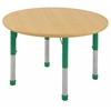 "30"" Round T-Mold Activity Table, Maple/Maple/Green/Chunky"