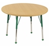 "30"" Round T-Mold Activity Table, Maple/Maple/Green/Toddler Ball"