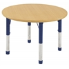 "30"" Round T-Mold Activity Table, Maple/Maple/Navy/Chunky"