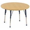 "30"" Round T-Mold Activity Table, Maple/Maple/Navy/Standard Ball"