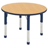 "30"" Round T-Mold Activity Table, Maple/Navy/Chunky"